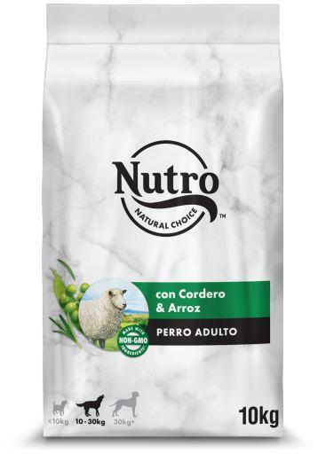 Nourriture Naturelle pour chiens d'agneau moyens 10 KG Nutro