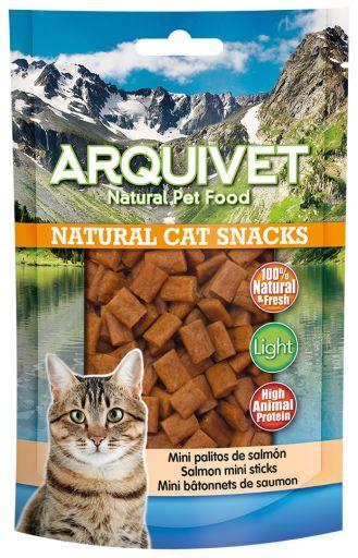 Snack pour chat - Mini bâtonnets de saumon 50 GR Arquivet