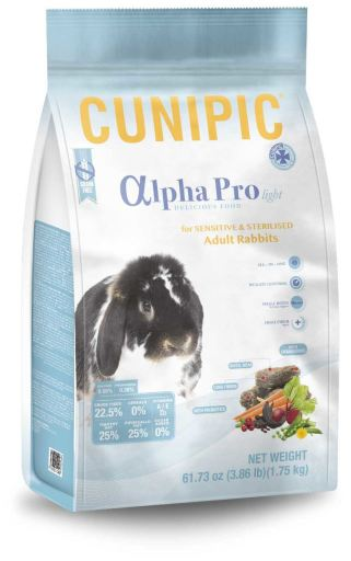 Alpha Pro Light & Sterilized Lapins adultes 1.75 KG Cunipic