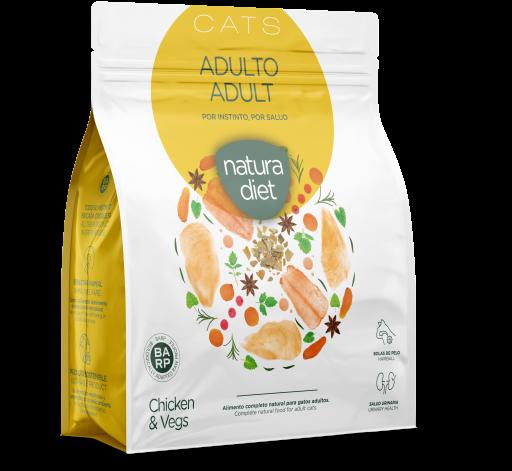 Aliments secs pour chats adultes Poulet 400 GR Natura Diet
