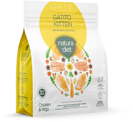 Aliment sec Chaton Poulet 400 GR Natura Diet