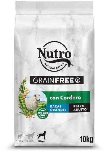 Farine d'Agneau Naturelle Sans Céréales pour Grands Chiens 10 KG Nutro