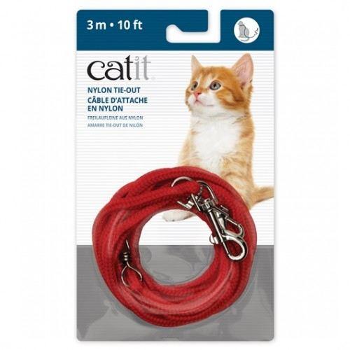 Laisse extra longue rouge 450 cm Catit