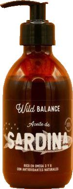 Huile naturelle Sardine 250 ml Wild Balance