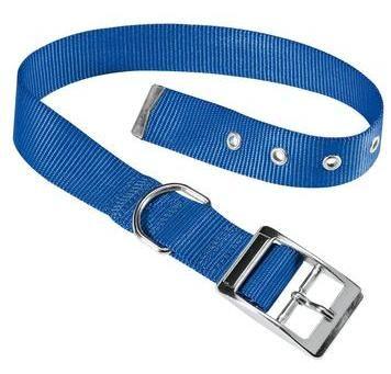 Collier club en nylon CF avec boucle en métal bleu 37-45cm x 25mm