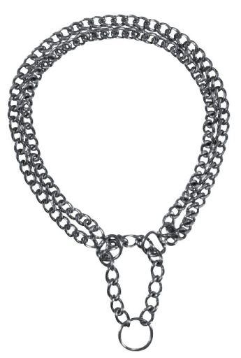 Collier d'éducation en métal à deux niveaux 30cm x 20mm Trixie