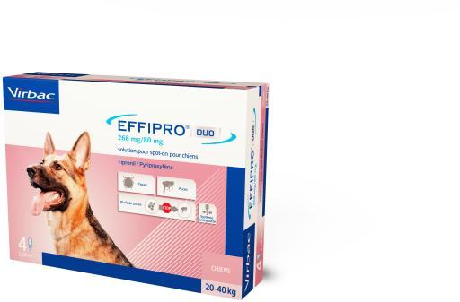 Effipro Duo Spot on Antiparasitaire pour Chiens de 20 à 40 Kg 60
