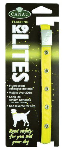 Collier de sécurité réfléchissant en nylon jaune clair 30-40cm x
