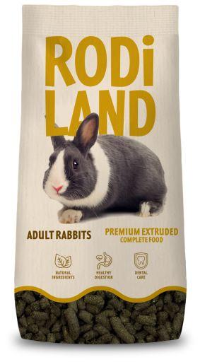 Nourriture complète Premium Extrudée pour lapins adultes 2 KG Rodiland