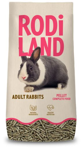 Nourriture complète granulés pour lapins adultes 3 Kg Rodiland