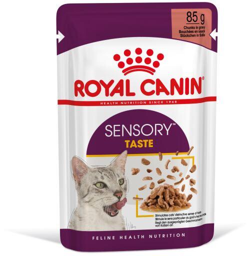 Nourriture humide au goût sensoriel en sauce pour chats adultes 85