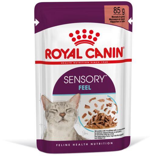 Croquettes humides Sensory Feel en sauce pour chats adultes 85 gr