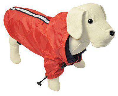 Veste de pluie réfléchissante rouge 25 cm Nayeco